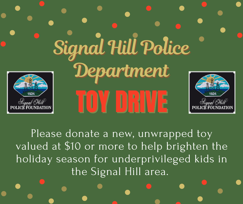 News Flash Police Department Toy Drive
