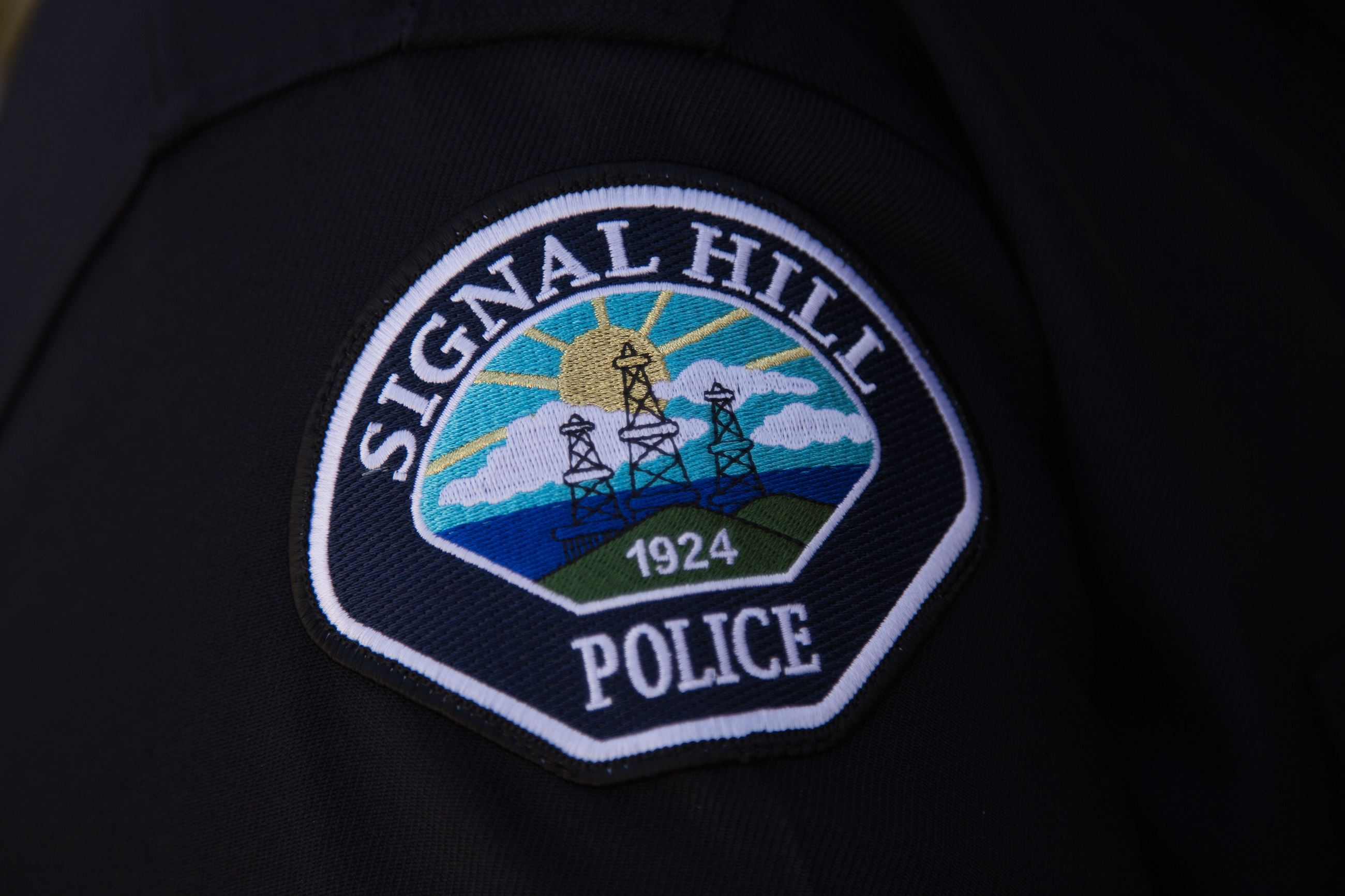 Signal Hill Police Patch on a Uniform